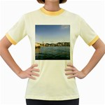 HK harbour Women s Fitted Ringer T-Shirt