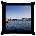 HK harbour Throw Pillow Case (Black)