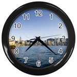 HK harbour Wall Clock (Black)