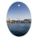 HK harbour Oval Ornament (Two Sides) Front