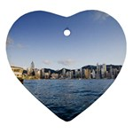 HK harbour Heart Ornament (Two Sides)