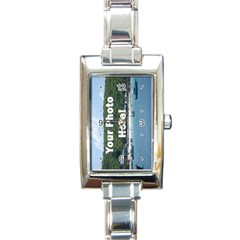 Make Your Own Rectangular Italian Charm Watch from SnappyGifts.co.uk Front