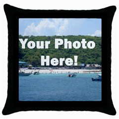 Make Your Own Throw Pillow Case (Black) from SnappyGifts.co.uk Front