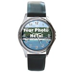 Your Photo Here copy Round Metal Watch