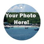 Your Photo Here copy Ornament (Round)