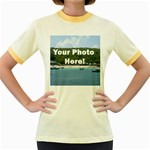 Your Photo Here copy Women s Fitted Ringer T-Shirt
