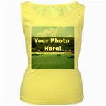 Your Photo Here copy Women s Yellow Tank Top