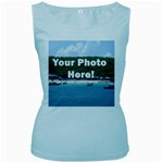 Your Photo Here copy Women s Baby Blue Tank Top