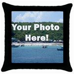 Your Photo Here copy Throw Pillow Case (Black)