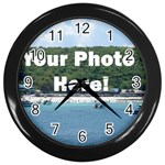 Your Photo Here copy Wall Clock (Black)