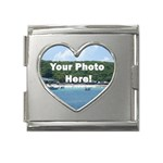 Your Photo Here copy Mega Link Heart Italian Charm (18mm)