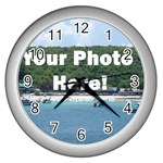 Your Photo Here copy Wall Clock (Silver)