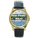 Your Photo Here copy Round Gold Metal Watch