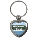 Your Photo Here copy Key Chain (Heart)