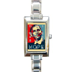 obama hope Rectangular Italian Charm Watch from DesignYourOwnGift.com Front