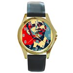 obama hope Round Gold Metal Watch