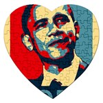 obama hope Jigsaw Puzzle (Heart)