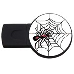 Spider in web USB Flash Drive Round (4 GB)