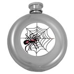Spider in web Hip Flask (5 oz)