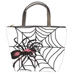 Spider in web Bucket Bag