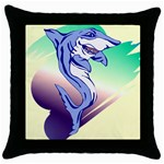 Shark Throw Pillow Case (Black)