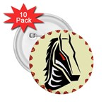 Horse head 2.25  Button (10 pack)
