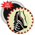 Horse head 3  Magnet (100 pack)