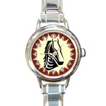 Horse head Round Italian Charm Watch