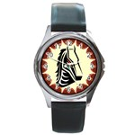 Horse head Round Metal Watch