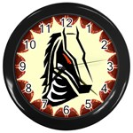 Horse head Wall Clock (Black)
