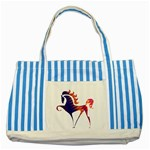 Prancing horse Striped Blue Tote Bag