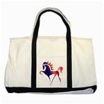 Prancing horse Two Tone Tote Bag