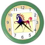 Prancing horse Color Wall Clock