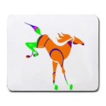 Bucking horse Large Mousepad