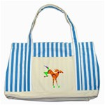 Bucking horse Striped Blue Tote Bag
