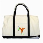 Bucking horse Two Tone Tote Bag