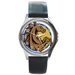Horse circle Round Metal Watch