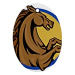 Horse circle Ornament (Oval)