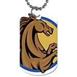 Horse circle Dog Tag (One Side)