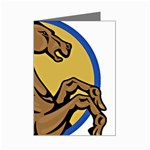 Horse circle Mini Greeting Card
