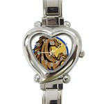 Horse circle Heart Italian Charm Watch