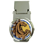 Horse circle Money Clip Watch