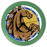 Horse circle Color Wall Clock