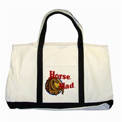 Horse mad Two Tone Tote Bag from UrbanLoad.com Front