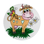 Cute cow Ornament (Round)