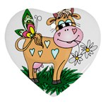 Cute cow Ornament (Heart)