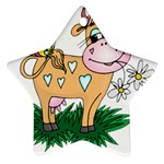 Cute cow Ornament (Star)