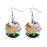 Cute cow 1  Button Earrings