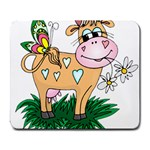 Cute cow Large Mousepad