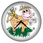 Cute cow Wall Clock (Silver)